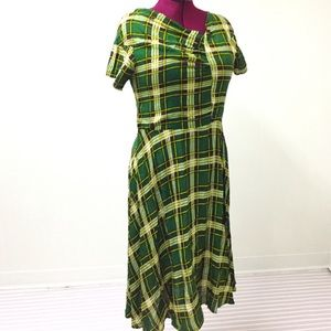 2XL UNIQUE VINTAGE Retro Pinup Rockabilly Dress